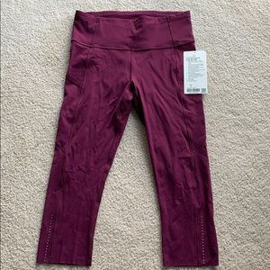 """NWT Fast and Free HR Crop 19"""" inseam size 8"""